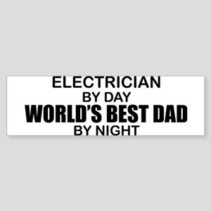 World's Best Dad - Electrician Sticker (Bumper)