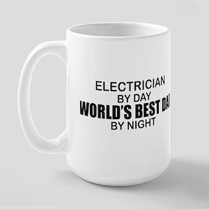 World's Best Dad - Electrician Large Mug