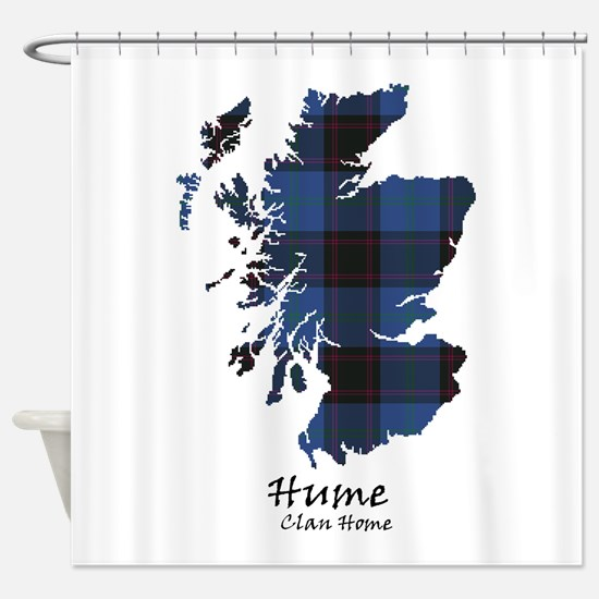 Map-Hume.Home Shower Curtain