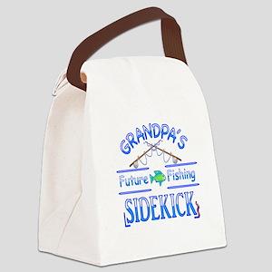 Grandpa's future fishing sidekick Canvas Lunch Bag