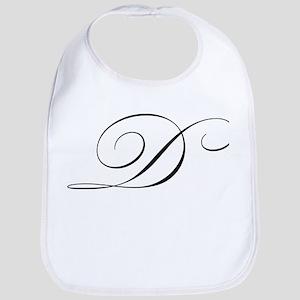 "Letter ""D"" (Cursive Initial) Bib"