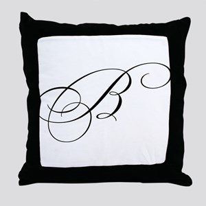 "Letter ""B"" (Cursive Initial) Throw Pillow"