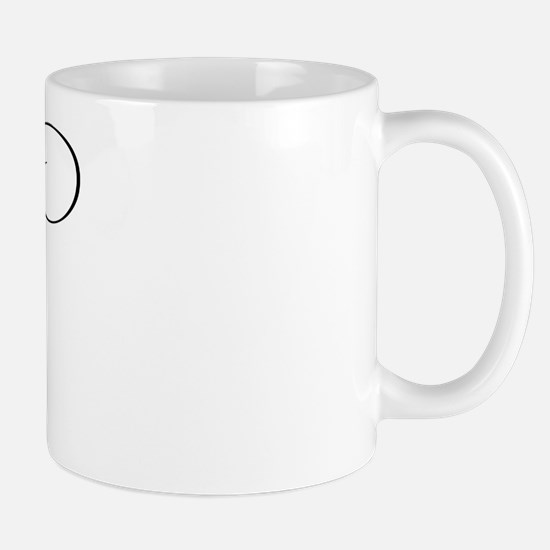 "Letter ""B"" (Cursive Initial) Mug"