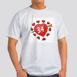 34th Valentine Ash Grey T-Shirt