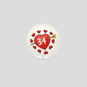 34th Valentine Mini Button