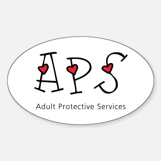 APS Hearts Oval Decal