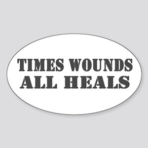 Times Wounds Oval Sticker
