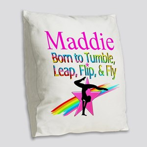WORLD GYMNAST Burlap Throw Pillow