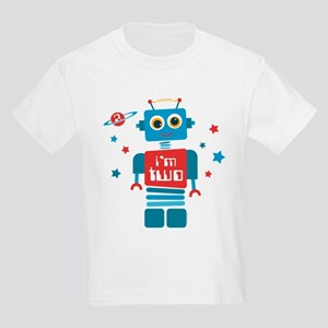 Robot 2nd Birthday Kids Light T-Shirt