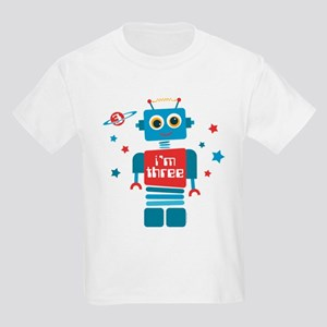 Robot 3rd Birthday Kids Light T-Shirt