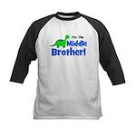 MIDDLE Brother! Dinosaur Kids Baseball Jersey