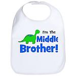 MIDDLE Brother! Dinosaur Bib