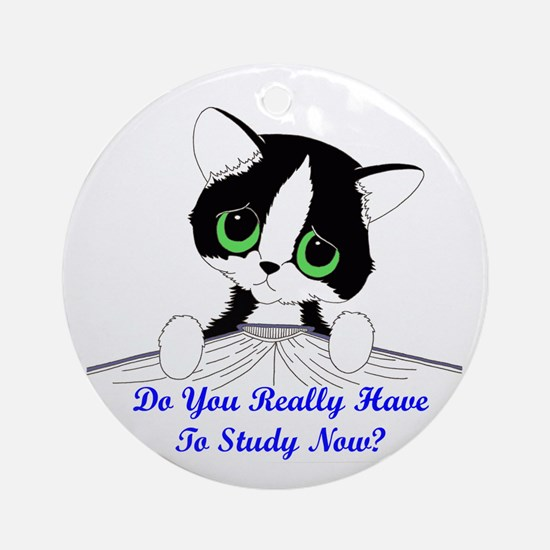 Do You Really Have To Study N Ornament (Round)