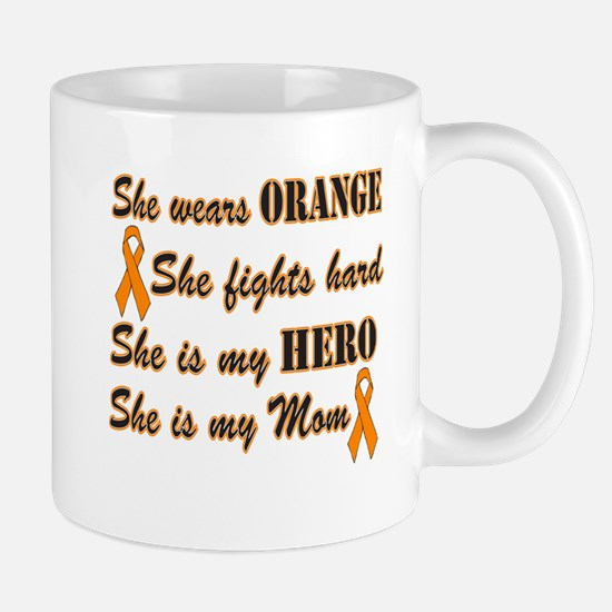 She is Mom and Hero, Orange Mug