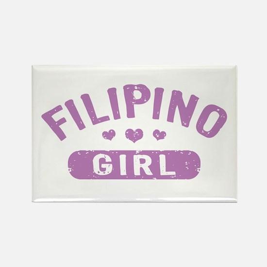Filipino Girl Rectangle Magnet