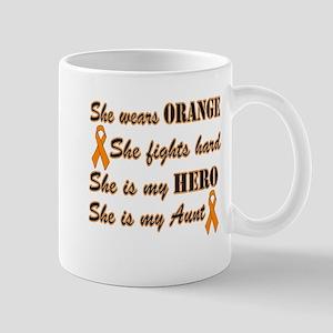 She is Aunt and Hero, Orange Mug