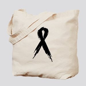 Run for a Cause - Black Ribbo Tote Bag