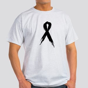 Run for a Cause - Black Ribbo Light T-Shirt
