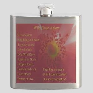 Wild Rose Aglow Poem Flask