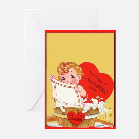 Vintage Valentine Two Greeting Cards (Pk of 10