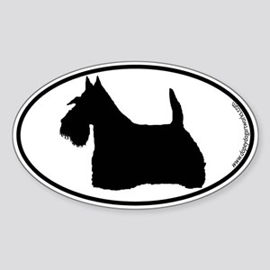 Scottie SILHOUETTE Oval Sticker
