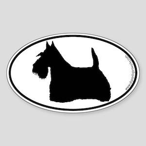 Scottie SILHOUETTE Oval Sticker