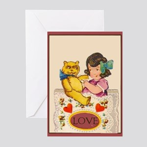 Vintage Valentine Ten Greeting Cards (Pk of 10