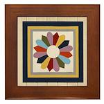Dresden Plate Framed Tile