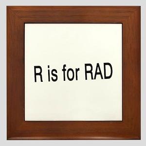 R is for Rad Framed Tile