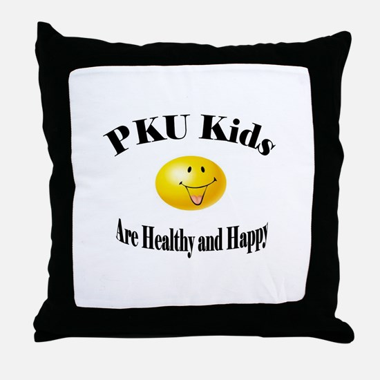 PKU Kids Are Healthy and Happ Throw Pillow