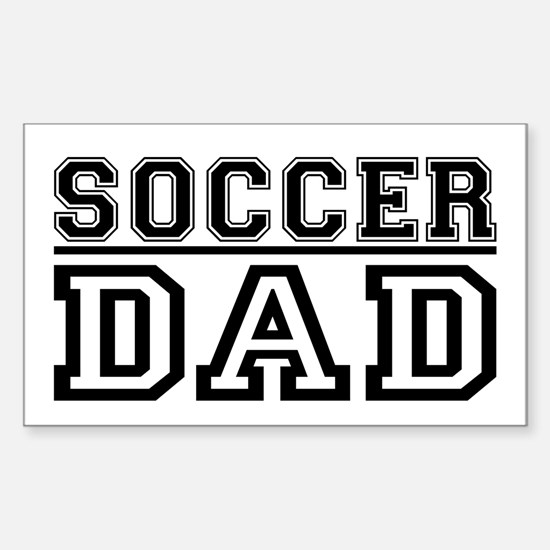 Soccer Dad 2 Rectangle Decal