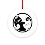 Yin Yang Cat Ornament (Round)