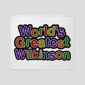 World's Greatest Wilkinson Throw Blanket
