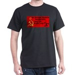 Soviet Russia Joke Likes You! Black T-Shirt