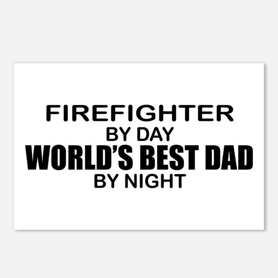 World's Best Dad - Firefighter Postcards (Package