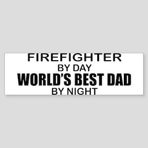 World's Best Dad - Firefighter Sticker (Bumper)