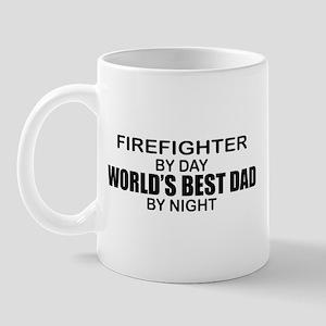 World's Best Dad - Firefighter Mug