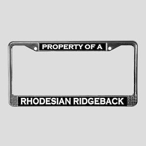 Property of Rhodesian Ridgeback License Frame