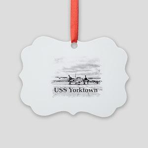 USS Yorktown Picture Ornament