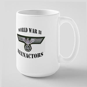 World War II German Reenactor Large Mug