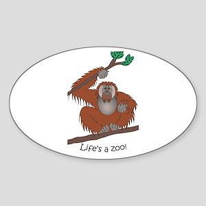Orangutan Sticker (Oval)