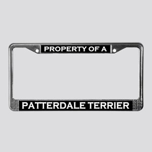 Property of Patterdale Terrier License Plate Frame