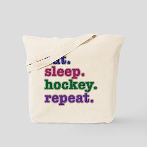 EAT. SLEEP. HOCKEY. REPEAT. Tote Bag