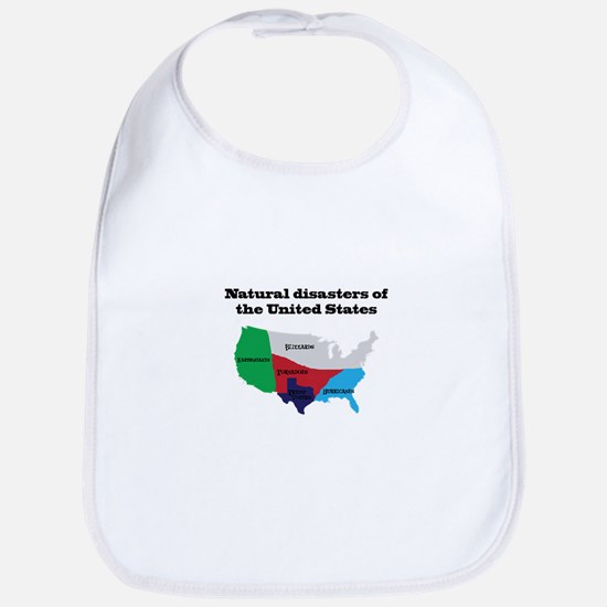Natural Disasters of the United States. Baby Bib