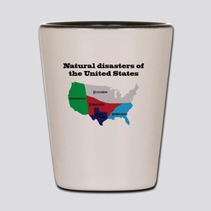 Natural Disasters of the United States. Shot Glass