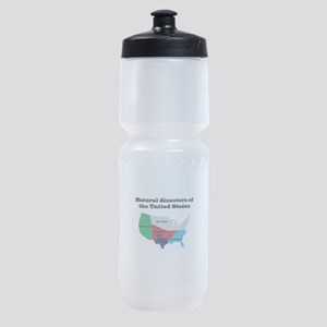 Natural Disasters of the United Stat Sports Bottle