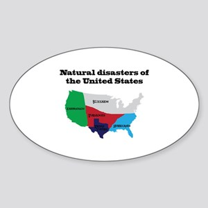 Natural Disasters of the United States. Sticker
