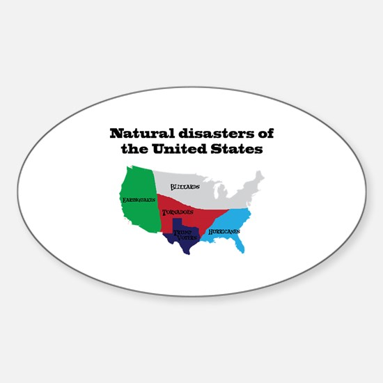 Natural Disasters of the United States. Decal