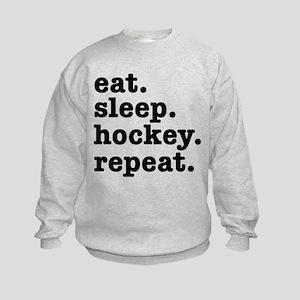 EAT. SLEEP. HOCKEY. REPEAT. Kids Sweatshirt