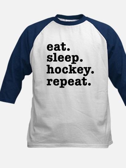 EAT. SLEEP. HOCKEY. REPEAT. Kids Baseball Jersey